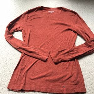 Ruff Hewn burnt orange long sleeve top